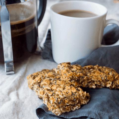 Chickpea Flour, Chia & Oat Granola Bars (GF + V)