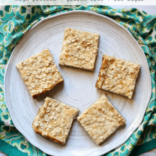 Good Morning Cheesecake Bars! (high-protein + low-sugar +GF)