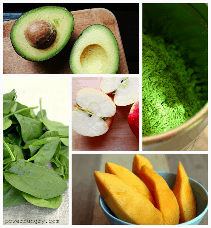 green smoothie bowl collage