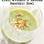 kiwi matcha smoothie bowl 2