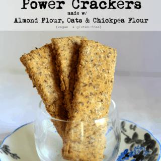 Power Crackers with Almond Flour, Oats & Chickpea Flour (gf + vegan)
