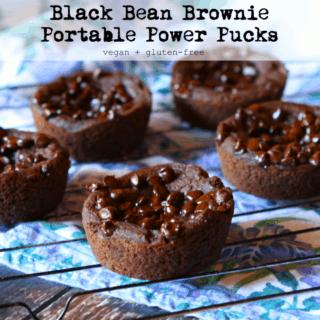 #8: Black Bean Brownie Power Pucks {vegan+gluten-free}