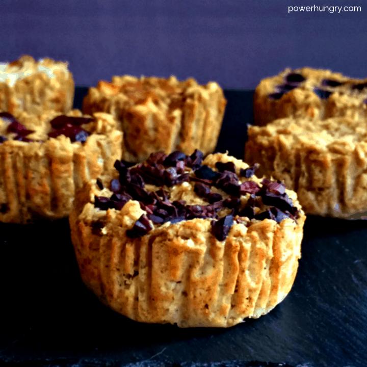 Vegan Baked Oatmeal Cups {oil-free, GF}
