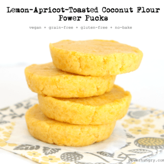 #29: Lemon-Apricot-Toasted Coconut Flour Power Pucks {vegan+grainfree+gluten-free}