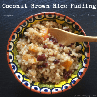 Coconut Brown Rice Pudding {vegan + gluten-free}