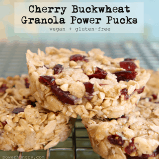 #28: Cherry-Buckwheat Granola Pucks {vegan + gluten-free + no-bake}