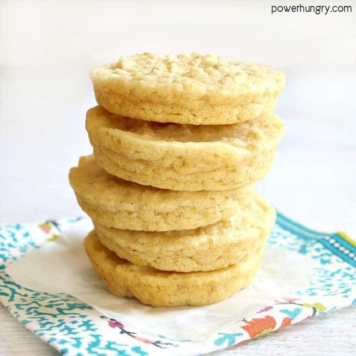 Brown Rice Chickpea Flour Breads {4 ingredients, vegan, gluten-free}