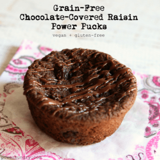 #40: Grain-Free Chocolate-Covered Raisin Power Pucks {vegan + gluten-free}