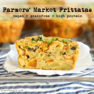 #44: Farmers' Market Frittatas {vegan+highprotein+grainfree+glutenfree}