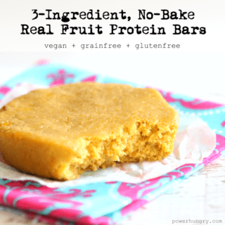 #43: 3-ingredient No-Bake Fruit Protein Bars {vegan+glutenfree}