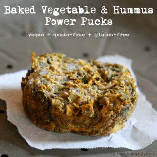 #30: Baked Vegetable & Hummus Power Pucks {vegan+grainfree+glutenfree}