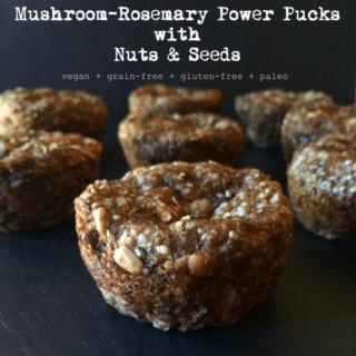 #18: Mushroom-Rosemary Power Pucks {vegan+grainfree+paleo}
