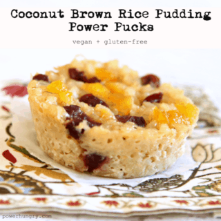 #33: Coconut Rice Pudding Power Pucks (vegan + gluten-free}