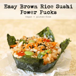 #21: Brown Rice Sushi Power Pucks {vegan + glutenfree}