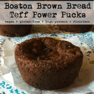 #16: Boston Brown Bread Teff Pucks {vegan+highprotein+glutenfree}