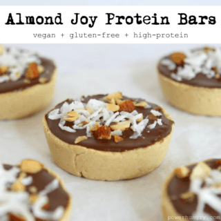 #51: No-Bake Almond Joy Protein Bars / Pucks {vegan+glutenfree}