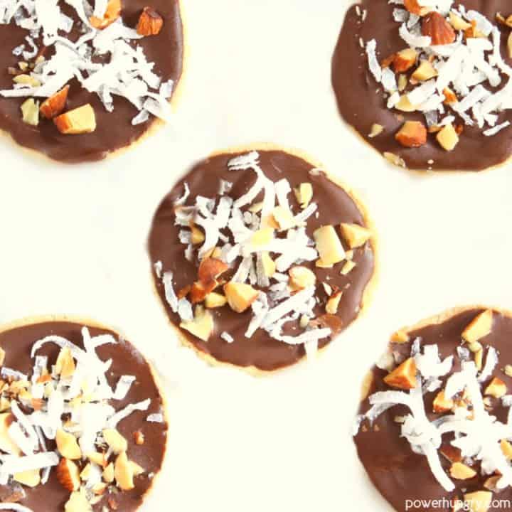 No-Bake Almond Joy Protein Pucks {vegan+glutenfree}