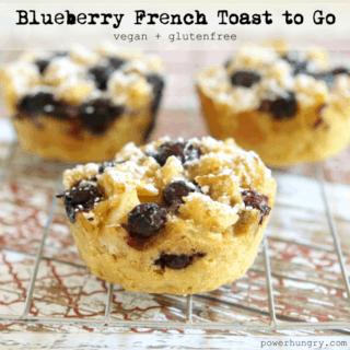 #57: Blueberry French Toast to Go {vegan + glutenfree}