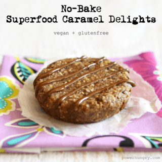 #55: No-Bake Superfood Caramel Delights {vegan + glutenfree}