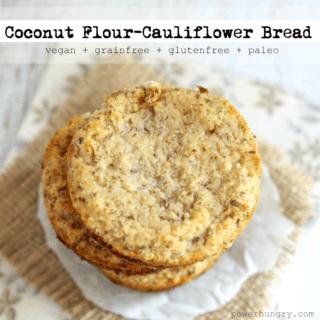 #48: Coconut Flour-Cauliflower Bread {vegan+grainfree+glutenfree+paleo}
