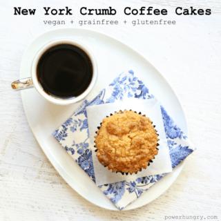 #62: New York Crumb Coffee Cakes {vegan + gluten-free + grain-free}