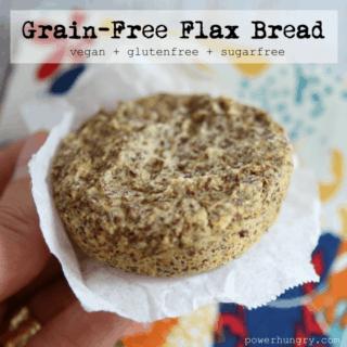 #49: Grain-Free Flax Bread {vegan + glutenfree+sugarfree}
