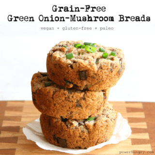 #47: Grain-Free Green Onion-Mushroom Breads {glutenfree+paleo+vegan}