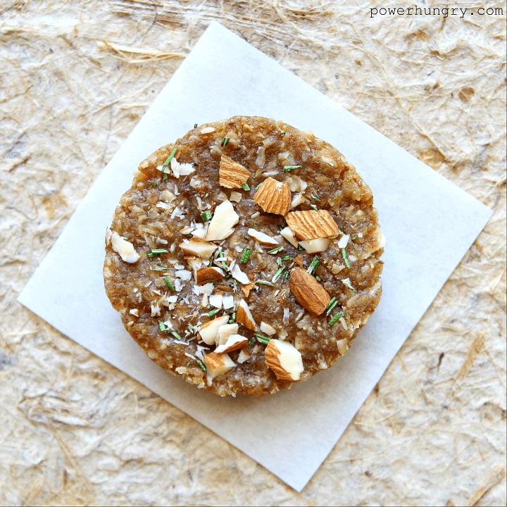 Almond Rosemary Granola Bars {no-bake, vegan, gluten-free}