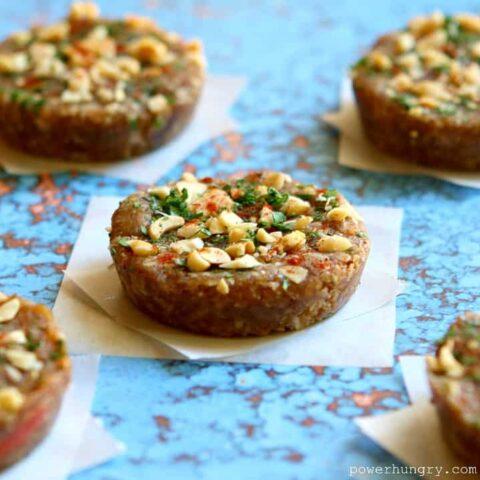 Thai Peanut Granola Bars {no-bake, vegan, gluten-free}