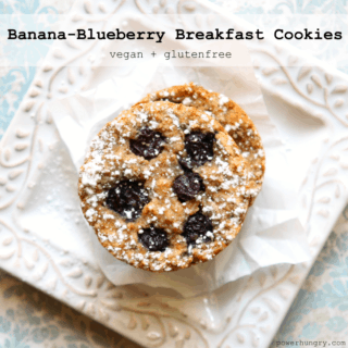 #67: Banana Blueberry Breakfast Cookies {vegan + glutenfree}