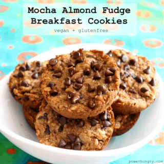 #66: Mocha Almond Fudge Breakfast Cookies {vegan + glutenfree}
