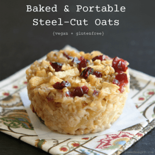 #70: Baked, Portable Steel-Cut Oats {vegan + glutenfree}
