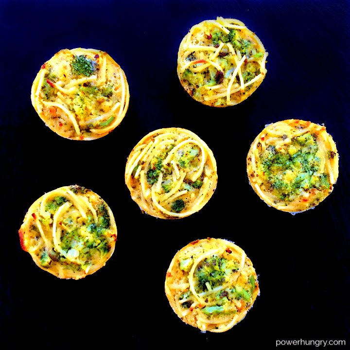Chickpea Flour Pasta Broccoli Frittatas (vegan, grain-free, high-protein))