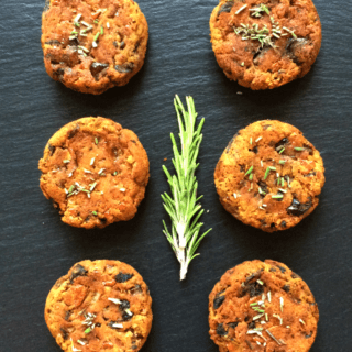 #90: Mushroom, Pumpkin & Rosemary Mini-Burgers {vegan+glutenfree+ grainfree}