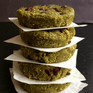 #94: Matcha-Mint Chip Protein Bars {vegan+glutenfree}