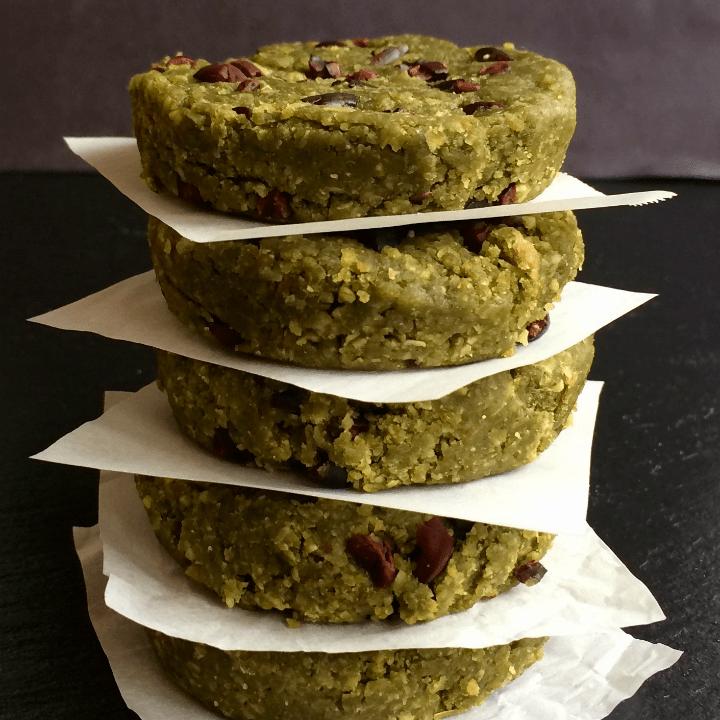 Matcha Mint Chip Protein Bites {vegan, glutenfree}