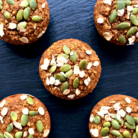 Pumpkin Oat Blender Muffins {vegan, gluten-free, oil-free}