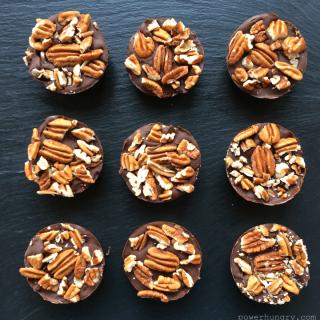 #100: Chocolate Pecan Protein Bars {V+GF+NoBake}