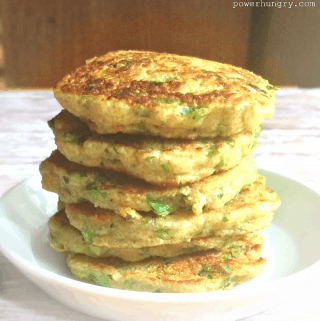 Amaranth-Green Onion Fritters {V+GF}