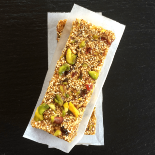 Popped Amaranth Energy Bars {GF + V}