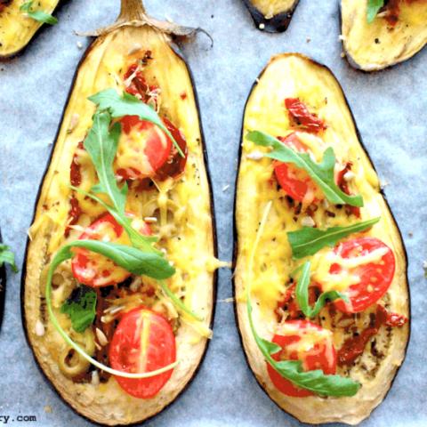 Vegan Eggplant Pizza Slices {Gluten-Free, Fast, Easy}
