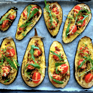 Eggplant Pizza Slices (GF + Vegan option)