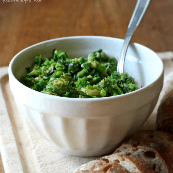Green Pea & Basil Spread