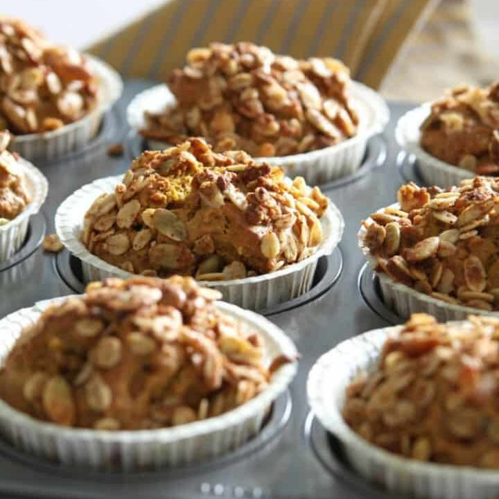 Vegan Carrot Cake Blender Muffins (gluten-free, oil-free}}