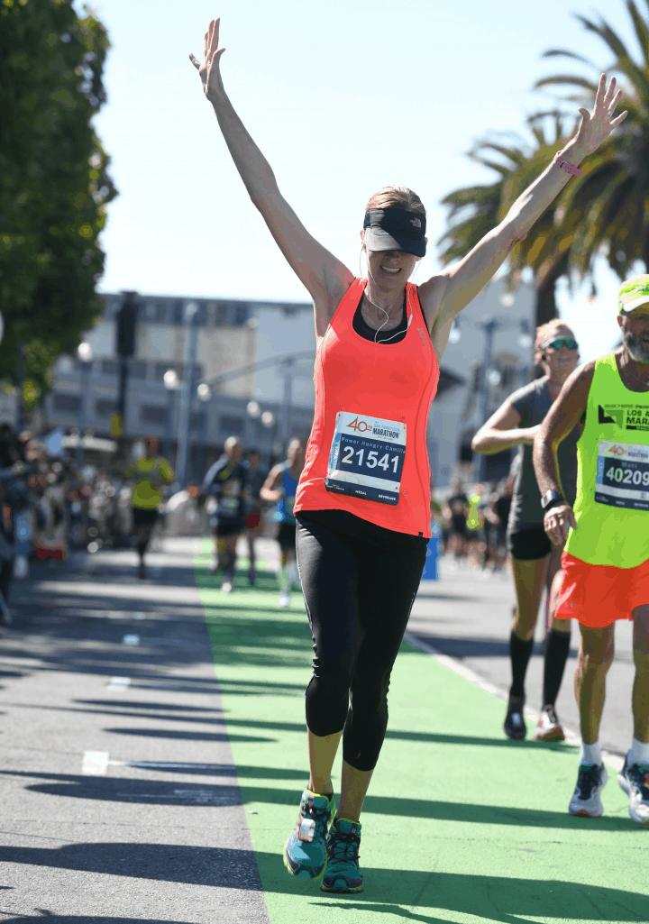me crossing the finish line at the san francsico marathon