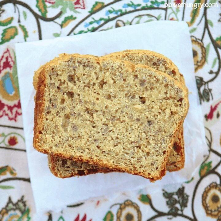 Vegan Chickpea Flour Banana Bread {grain-free, oil-free}