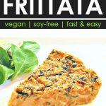 sweet potato and kale chickpea flour frittata slice