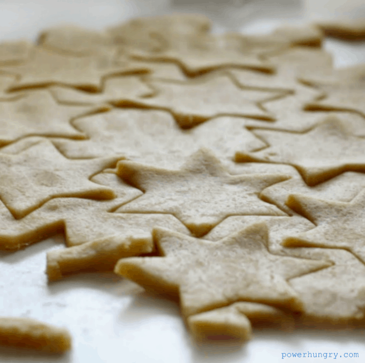 rolled and cut out Coconut Flour Cut-Out Cookies