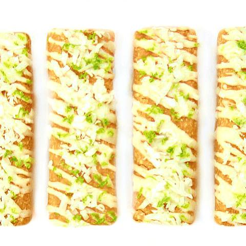 Coconut Lime Protein Bars {4-ingredients, grain-free, vegan}