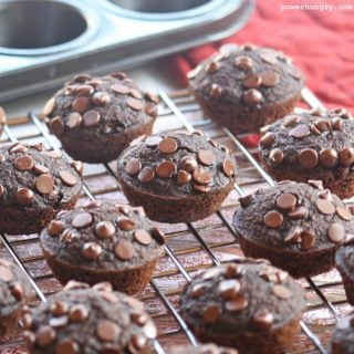 Mini Double Chocolate Blender Muffins {oil-free, GF, & vegan}